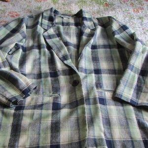 Vintage Jackets & Coats - Vintage Oversize Plaid Blazer, XL
